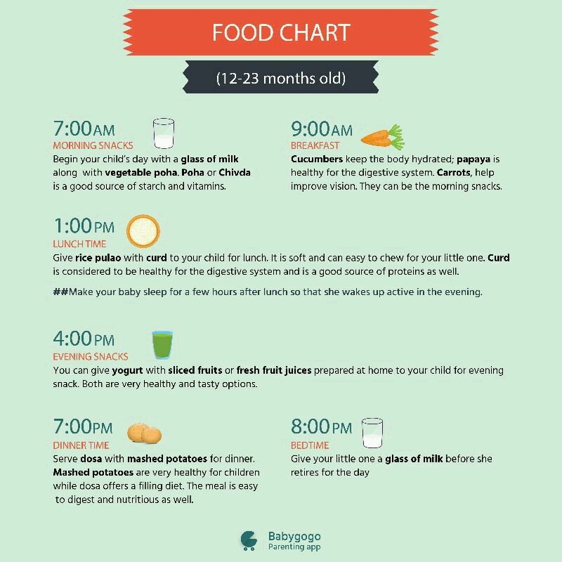 Healthy Food For  Year Old Baby