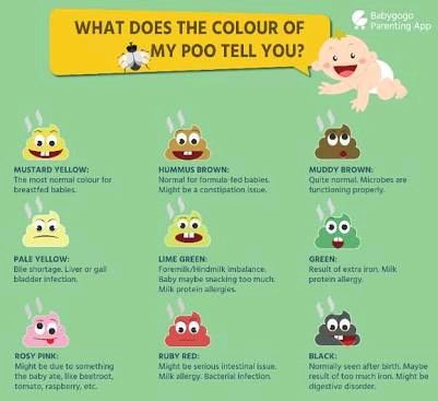 Infant poop colour chart pl send