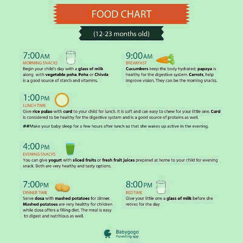 One year old babys food chart forumfinder Images